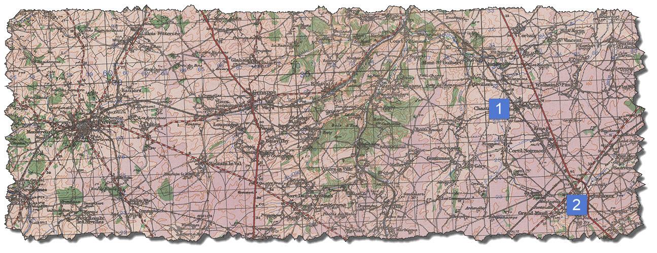 Map 01 - Nivelles - Gembloux