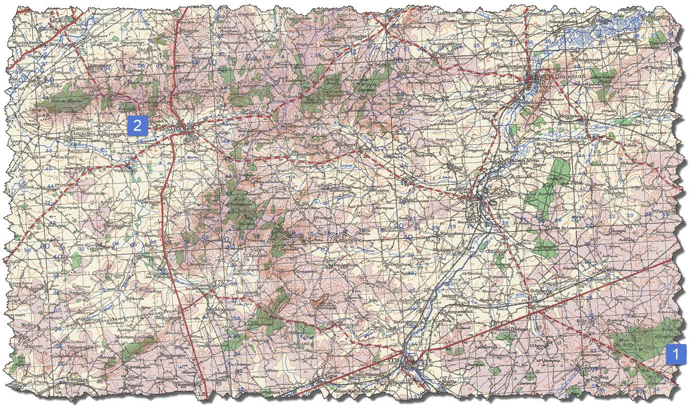 Map 1 - Ronse - Graty