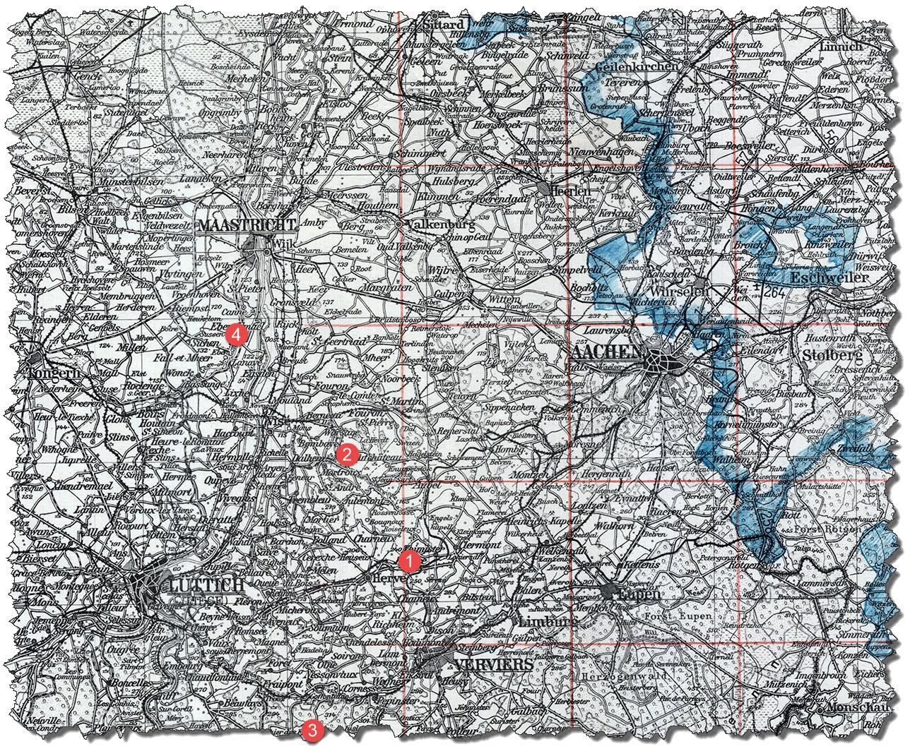 Map 2 - 300K UvM J51 - Forts in Belgium