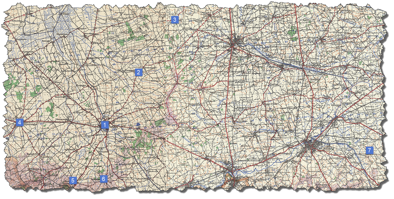 Map 01 - Ypres and area