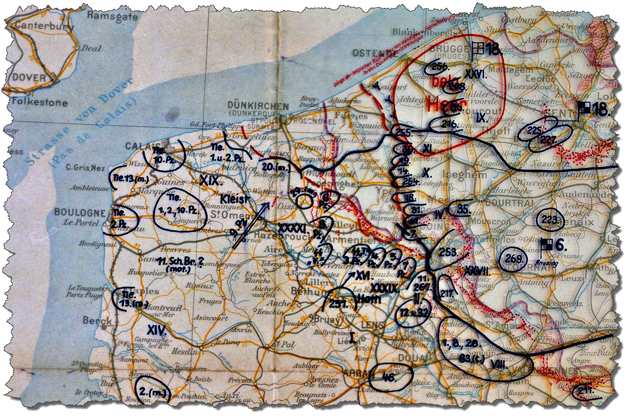 Map 02 - Original Situation Map May 28, 1940