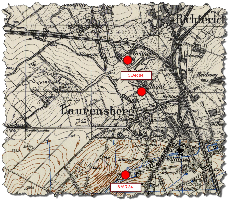 1940-04 - Locations of Corps Artillery - Map 1
