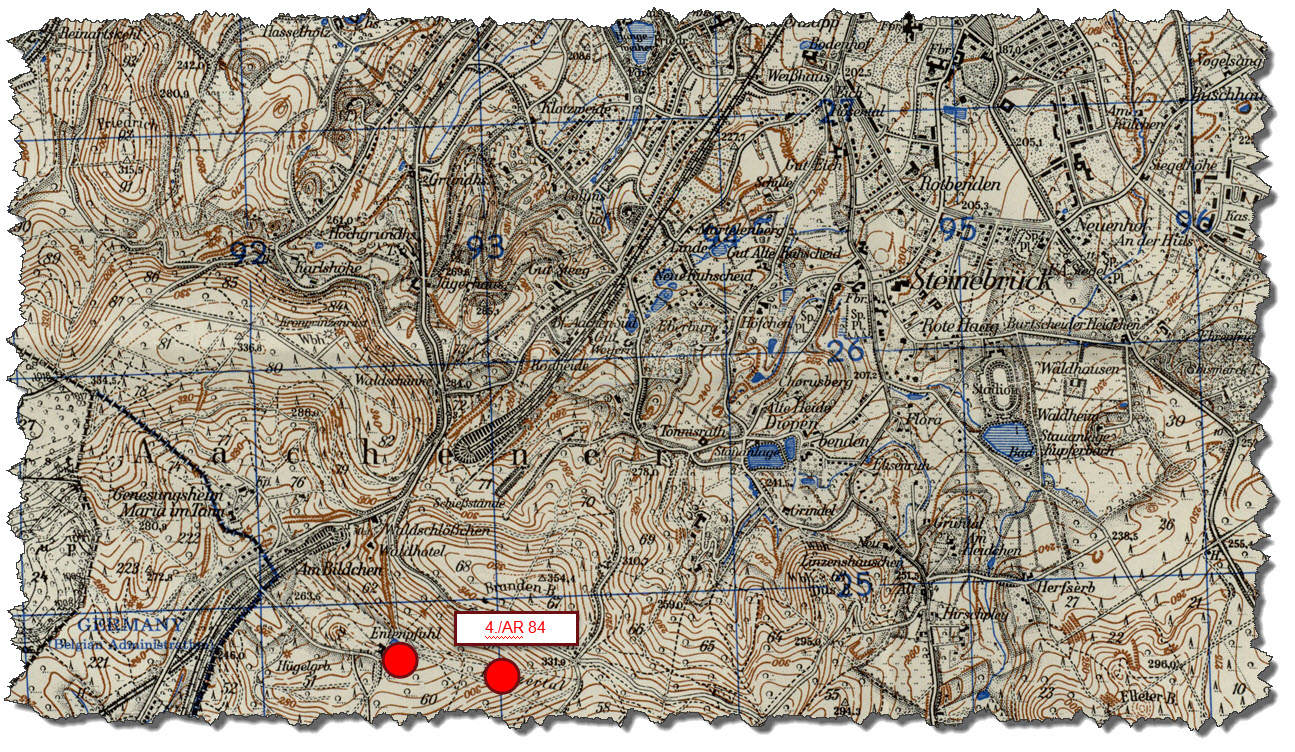 1940-04 - Locations of Corps Artillery - Map 2